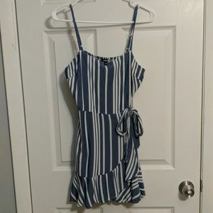 Express blue and white dress